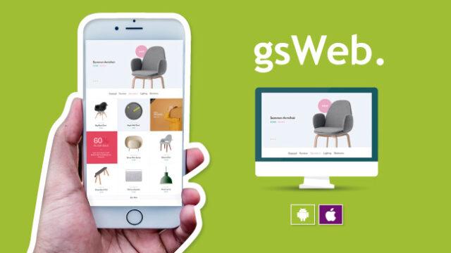 Presentamos gsWeb. La Solución global para comercio electrónico Web y App.