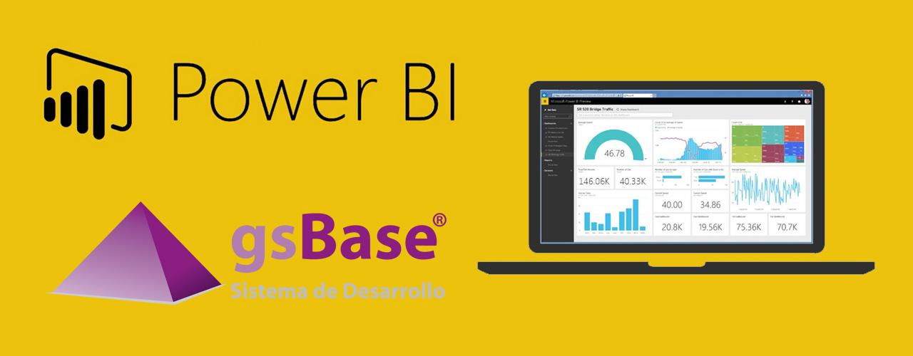 exportación bases de datos gsBase Power BI herramientas de Business Analysis